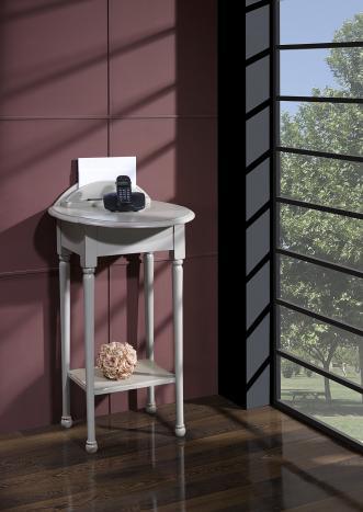 Table Téléphone Inès  en Merisier de style Louis Philippe LAQUE GRIS