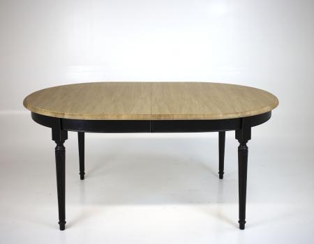 Table ovale 170*110 Mona, réalisée en Chêne Massif de style Louis XVI 3 allonges de 40 cm Finition Chêne Brossé SEULEMENT 1 DISPONIBLE