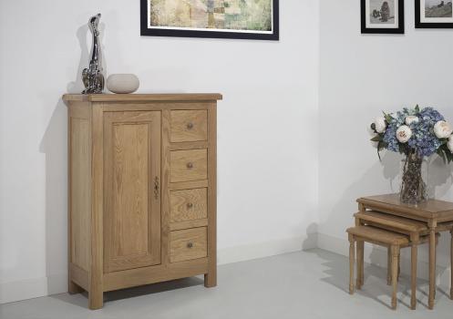 Farinier 1 porte 5 tiroirs réalisé en Chêne Massif de style Campagnard  SEULEMENT 1 DISPONIBLE
