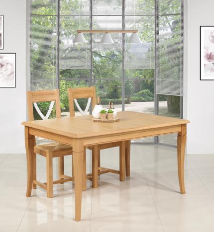 Table de repas jérôme réalisée en chêne de style louis philippe 140x100 seulement 1 disponible