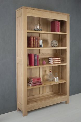 Bibliothéque Collection Nature réalisée en chêne massif 4 étagères montées sur crémaillères en bois.
